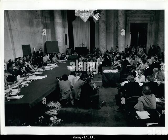 Feb. 26, 2012 - Senate Watergate Committee Sen H.Daber Testimony of John Dean - Stock Image