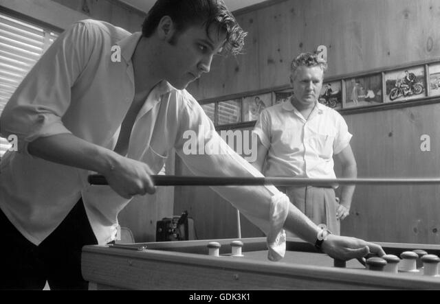 Elvis Presley and his father Vernon - Stock Image