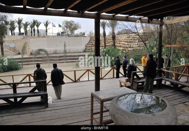 Baptism site of Jesus Christ at the River Jordan, Jordan - Stock Image