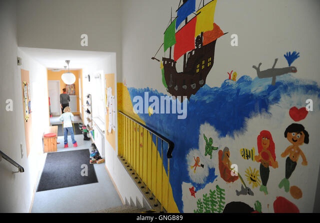 '''Die Buntstifte'', a parental initiative after school center in Munich, 2014' - Stock Image