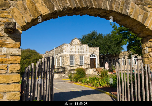 Mission San José y San Miguel de Aguayo San Antonio Texas tx tourist attraction national landmark spanish colonial - Stock Image