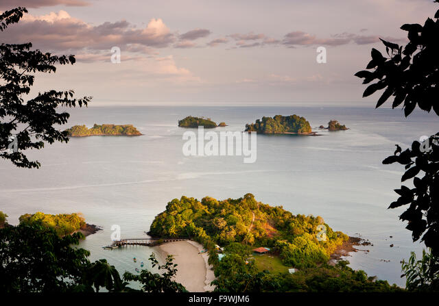 Last light on Coiba island national park, Pacific coast, Veraguas province, Republic of Panama. - Stock-Bilder