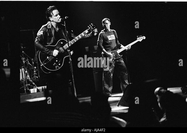 Bono and Adam Clayton from U2 - Stock Image