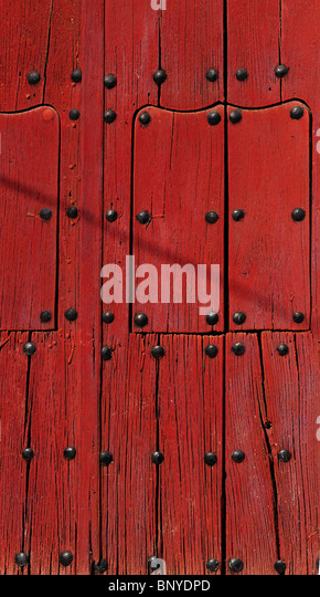 Red door Andalucia Spain - Stock Image