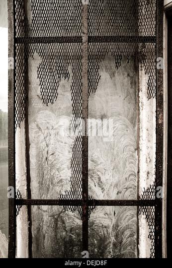 Derelict window in West Wales, Swansea - Stock-Bilder