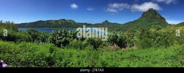BORA BORA island landscape in French Polynesia. Photo: Tony Gale - Stock-Bilder