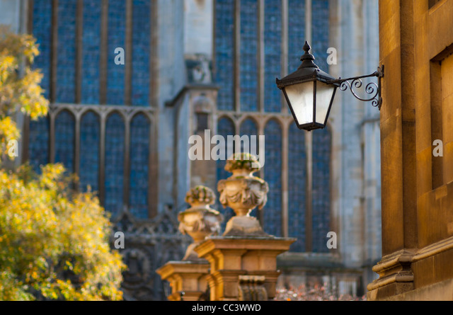 UK, England, Cambridgeshire, Cambridge, Trinity Lane, King's College Chapel - Stock-Bilder