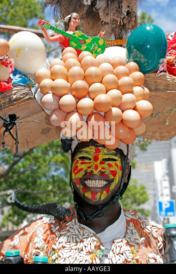 south africa cape town green market street artist crazy costum - Stock Image
