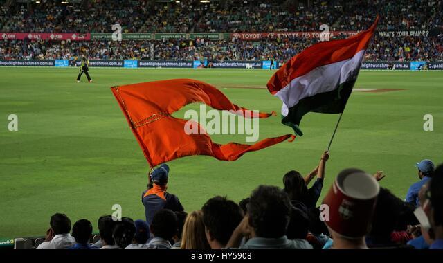 Indian Flag Cricket: Cricket Nation Stock Photos & Cricket Nation Stock Images