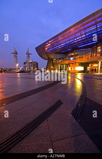The Lowry Centre at Salford Quays Manchester UK - Stock Image