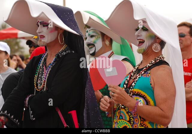 May 22, 2010 - Irvine, California, USA -  People dressed in costume attend the 24th annual AIDS Walk in Orange County. - Stock Image
