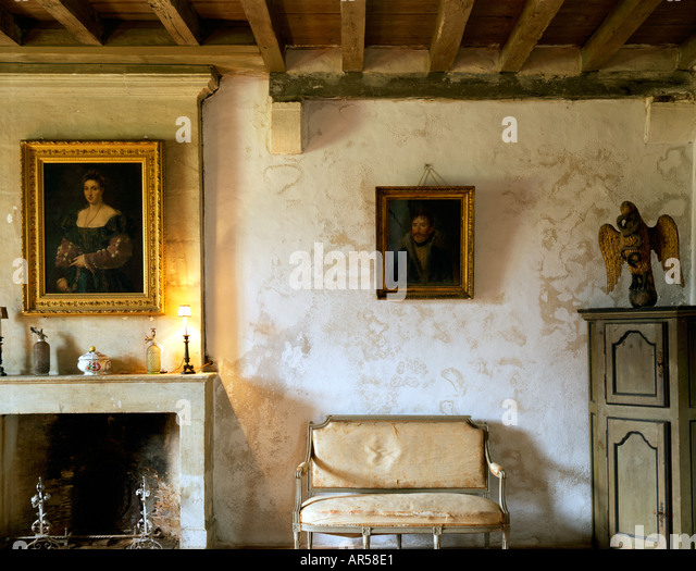Drawing room country house stock photos drawing room for French country house interior