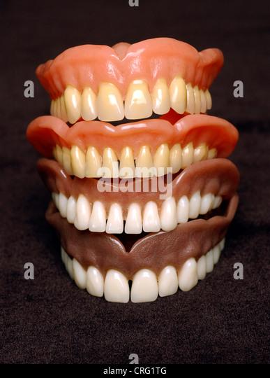 Acrylic Arch Ceramic Dentistry Denture - Stock Image