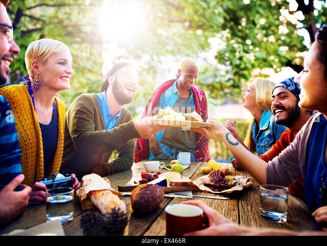 Friends Friendship Vacation Together Picnic Concept - Stock-Bilder