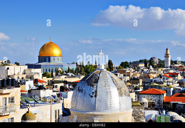 Skyline of the Old City in Jerusalem, Israel. - Stock Image