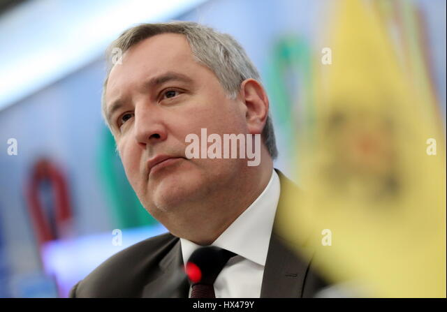 Moscow, Russia. 24th Mar, 2017. Russia's deputy prime minister Dmitry Rogozin at a meeting of the supervisory - Stock Image