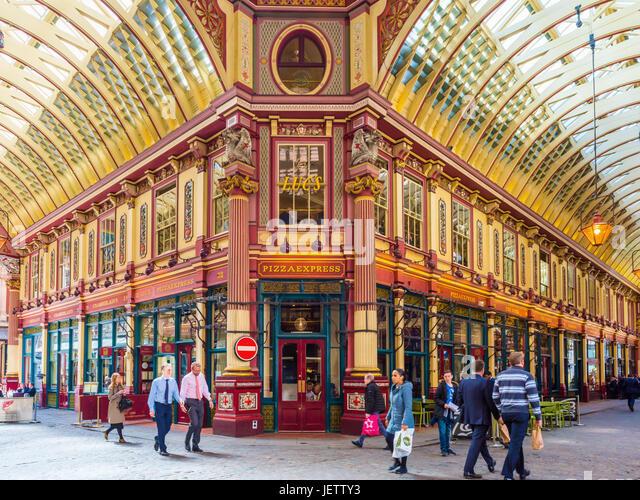 Leadenhall Market, London, UK - Stock Image