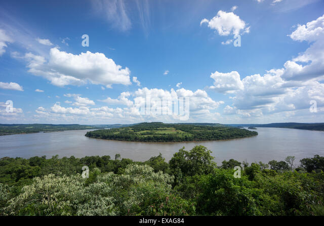 Uruquay River and border with Brazil, Uruguay, South America - Stock Image