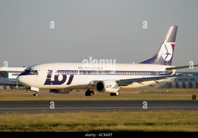 LOT Polish Airlines Polskie Linie Lotnicze Boeing 737-45D - Stock Image