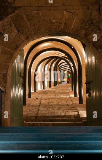 Entrance to St James Cavalier Centre Valletta Malta - Stock Image