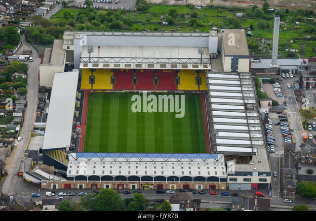 Aerial View Vicarage Road Home Stock Photos & Aerial View