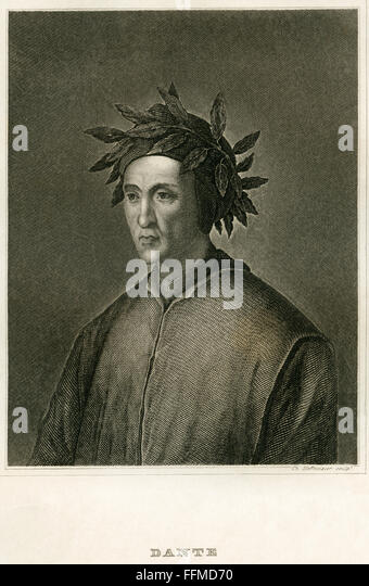 Dante Alighieri, circa 1850 - Stock-Bilder