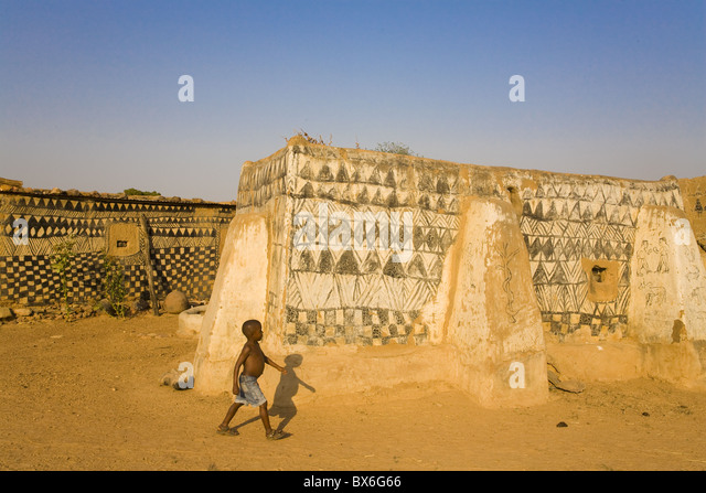 Tangassogo Village, near the border with Ghana, Burkina Faso, West Africa, Africa - Stock Image