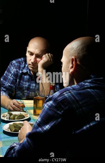Bald Man Alcohol Stock Photos Amp Bald Man Alcohol Stock
