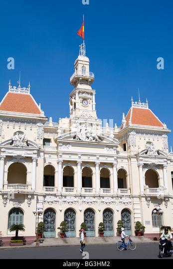 HCMC's People's Committee Building, (Hotel de Ville), Hoh Chi Minh City (Saigon), Vietnam, Indochina, Southeast - Stock Image