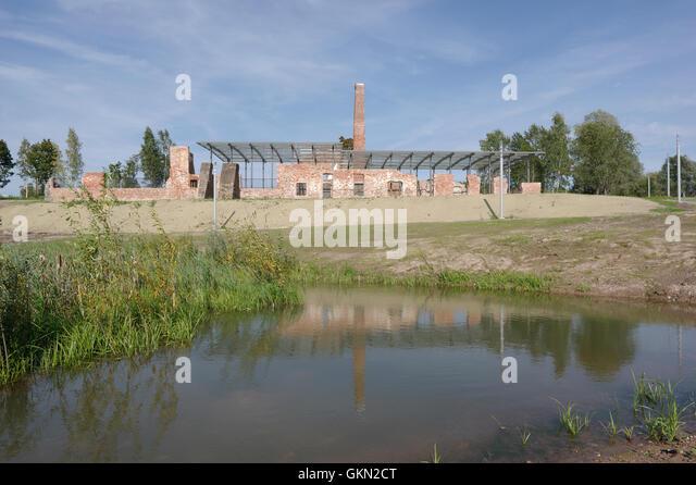 Preserved Raadi manor distillery building located on the territory of Estonian National museum. Tartu Estonia 21th - Stock Image