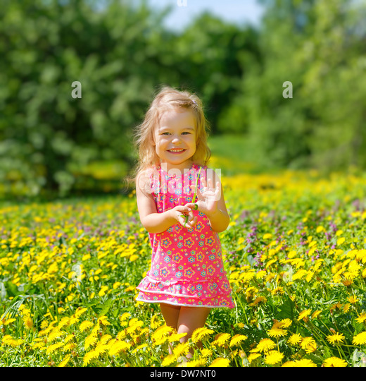 Little girl in the park - Stock Image