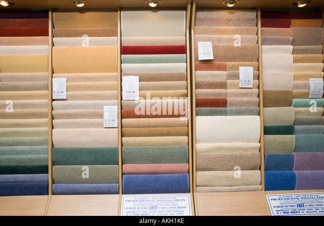 Carpet shop - Stock-Bilder