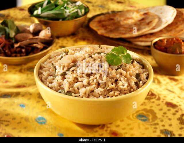 INDIAN BROWN WHOLEGRAIN BASMATI RICE - Stock Image
