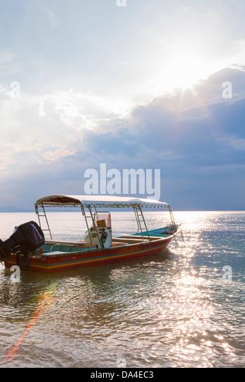 Boat, Perhentian Islands, Terengganu, Malaysia - Stock Image