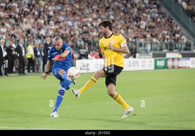 Turin, Italy. 30th May, 2017. Football Charity Match, La Partita del Cuore 2017.Juventus Stadiun, Turin. Singers - Stock Image