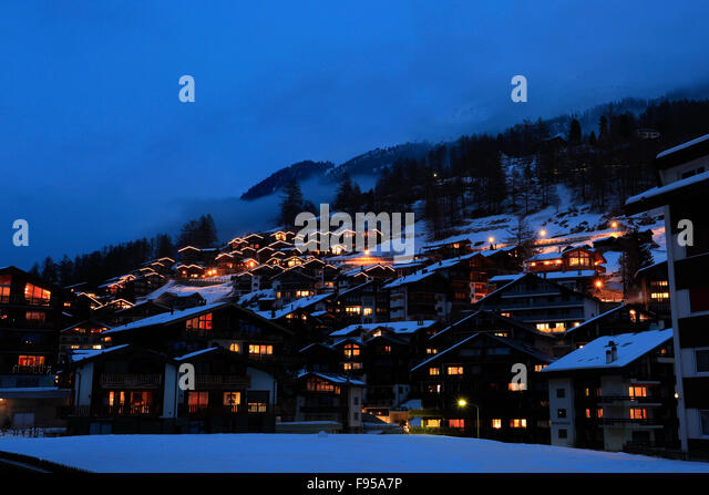 zermatt matterhorn winter night night stock photos
