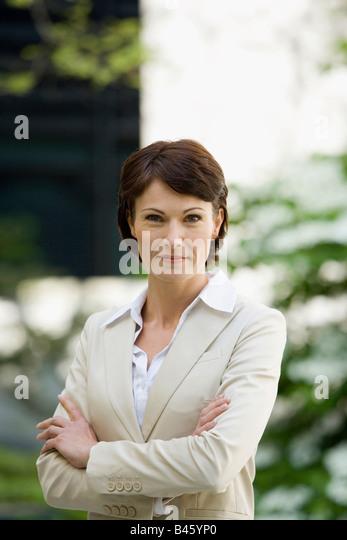 Germany, Baden Württemberg, Stuttgart, Business woman, portrait - Stock Image