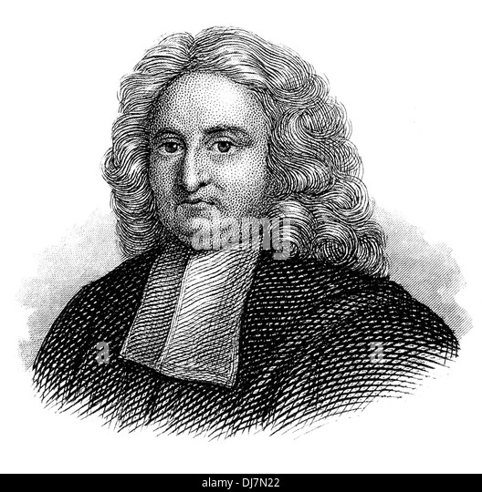 Portrait of Edmond Halley, 1656 - 1742, an English astronomer, geophysicist, mathematician, meteorologist, - Stock Image