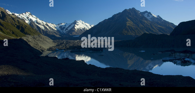 Mount Cook NP, New Zealand - Stock Image
