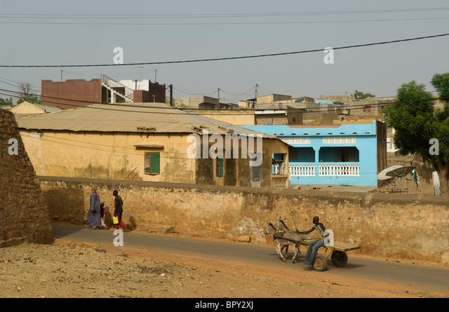 Street scene, Bakel, Senegal - Stock Image