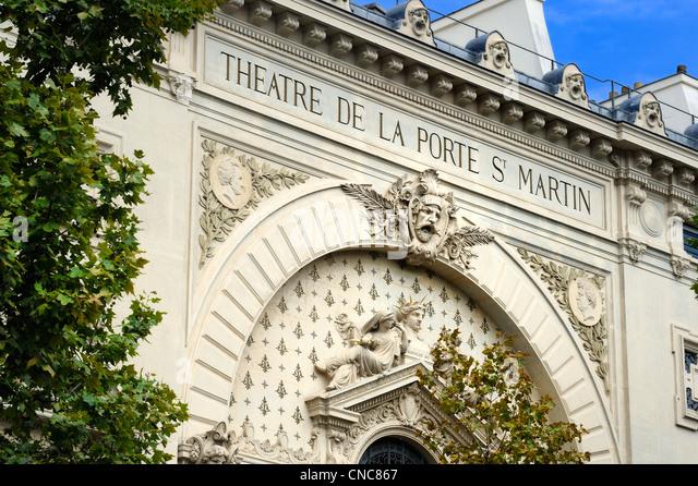 Porte de paris door paris stock photos porte de paris - Theatre de la porte saint martin metro ...