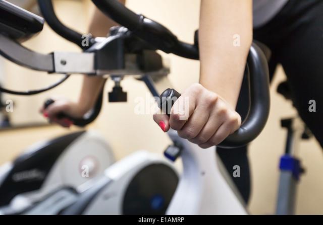 training in fitness center - Stock Image