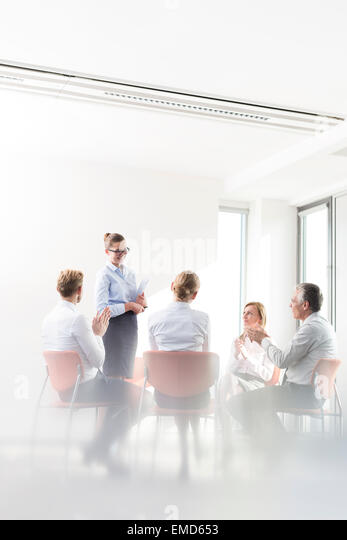 Business people in meeing - Stock Image