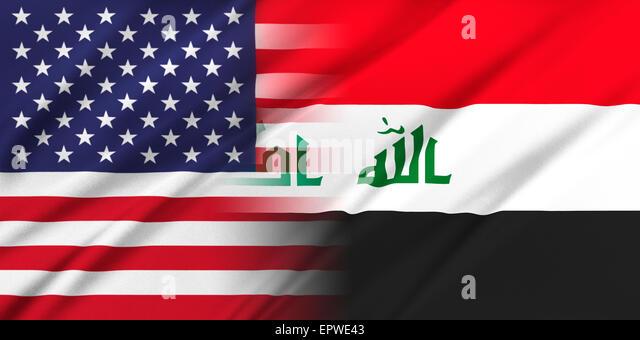 USA and Iraq. - Stock Image