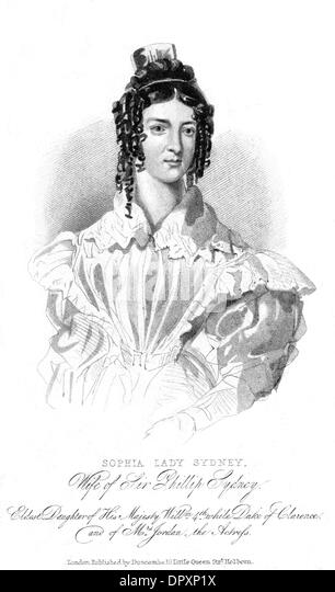 LADY SOPHIA SIDNEY - Stock Image