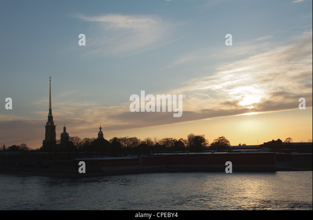 Peter and Paul Fortress in St. Petersburg, Russia. - Stock Image