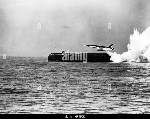 Regulus II cruise missile,launched from the submarine Greyback,pacific ocean,50s - Stock Image