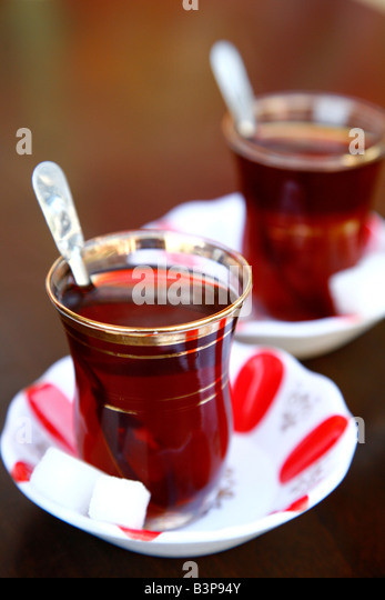 May 2008 - Turkish tea Istanbul Turkey - Stock-Bilder