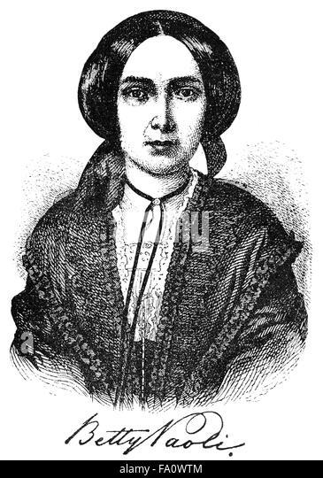 Barbara Elisabeth Glück, Pseudonym Betty Paoli, 1814-1894, an Austrian poet, novelist, journalist and translator, - Stock-Bilder