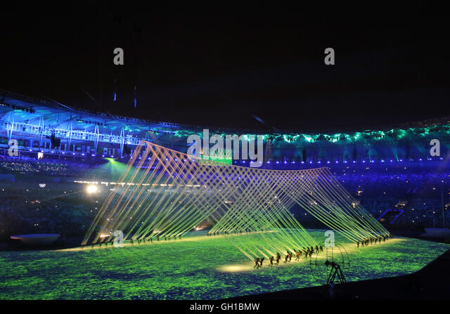 Rio 2016 Olympic Games Opening Ceremony, AUGUST 5, 2016 : Opening Ceremony at Maracana during the Rio 2016 Olympic - Stock-Bilder